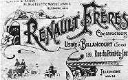 """1899 - компания Renault Freres ( """"Братья Рено """") участвует с двумя различными моделями в Парижской выставке автомобилей..."""