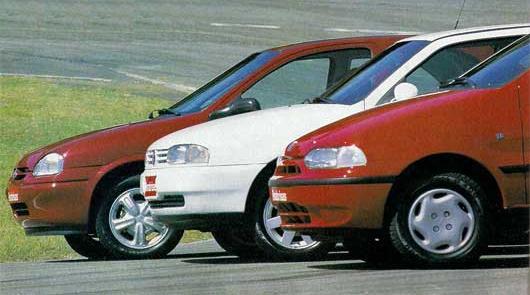 Chevrolet Corsa Vs. Fiat Palio Vs. Volkswagen Gol (test)